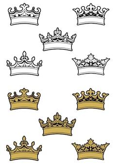 Heraldische kronen und diademe