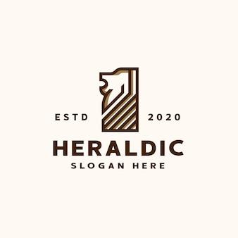 Heraldische löwenlogoschablone