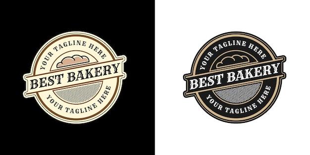 Heraldische luxus-vintage-bäckerei-logo-vorlage mit dekorativem dekorativem emblemrahmen