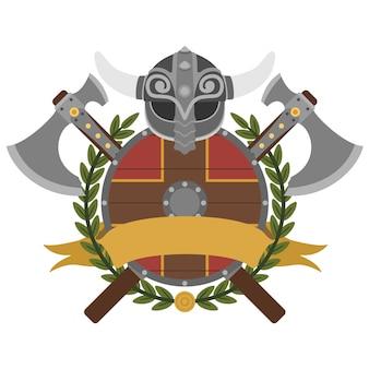 Heraldisches design wikinger
