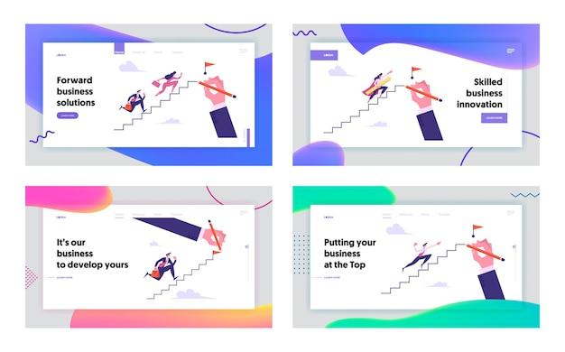 Herausforderungskonzept landing page set