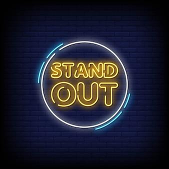 Herausragender neon signs style text