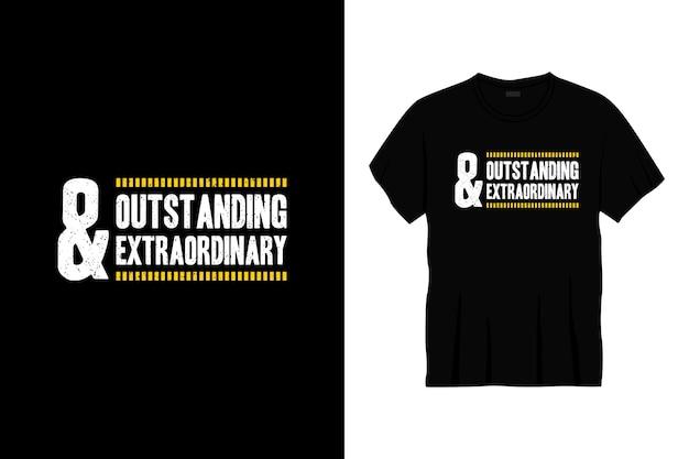 Herausragendes und außergewöhnliches typografie-t-shirt-design