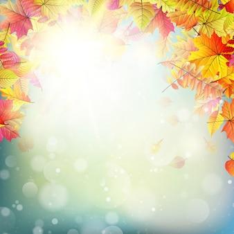 Herbst abstrakter hintergrund.