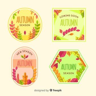 Herbst abzeichen sammlung mit blättern