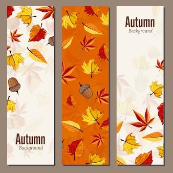 Herbst-banner-kollektion