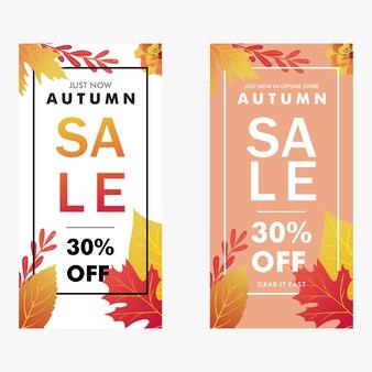 Herbst banner vektor