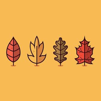 Herbst blatt symbol