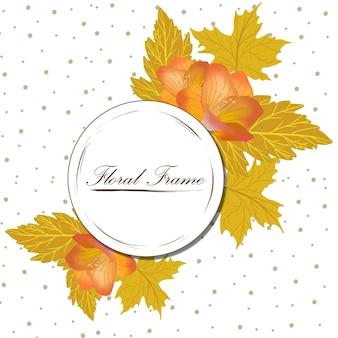 Herbst blumenrahmen
