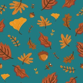 Herbst braun verlässt muster
