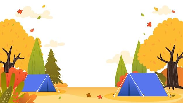 Herbst camping hintergrund vektor