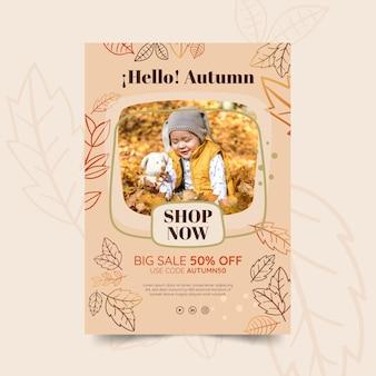 Herbst flyer vorlage