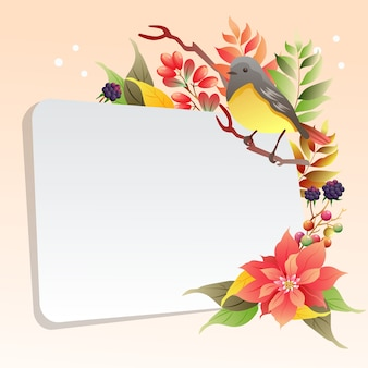 Herbst garten laub vogelgezwitscher