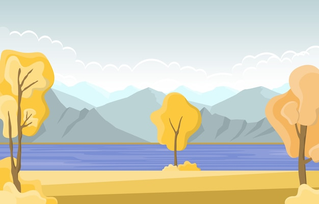 Herbst herbst saison baum golden yellow lake panorama landschaft