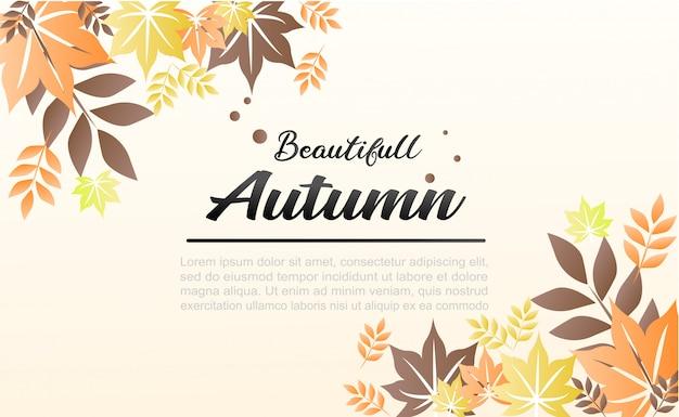 Herbst hintergrund illustration. es kann als banner und für social media verwendet werden