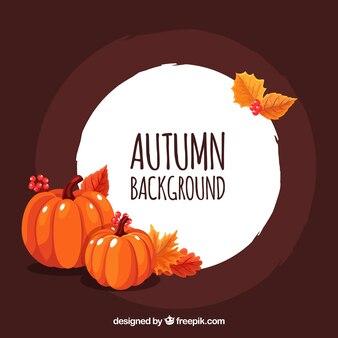 Herbst hintergrund mit kürbissen
