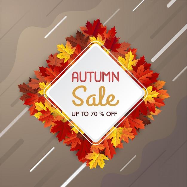 Herbst laub verkauf banner, ahornblatt hintergrund