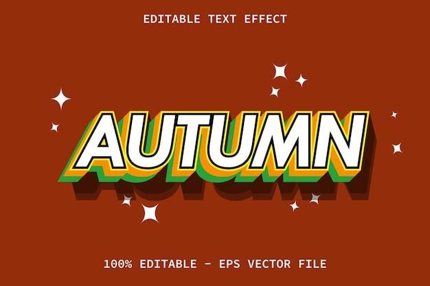 Herbst mit bearbeitbarem texteffekt im modernen stil