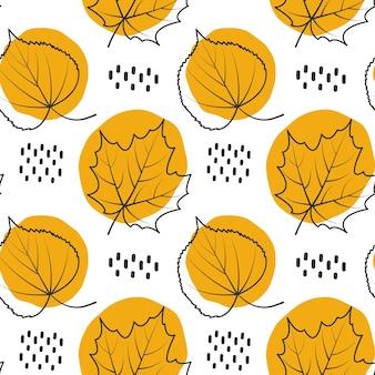 Herbst muster hintergrund verlassen