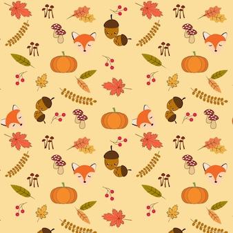 Herbst muster hintergrund