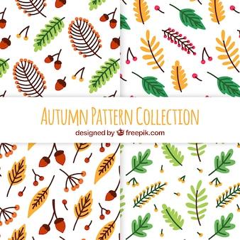 Herbst muster sammlung mit blättern