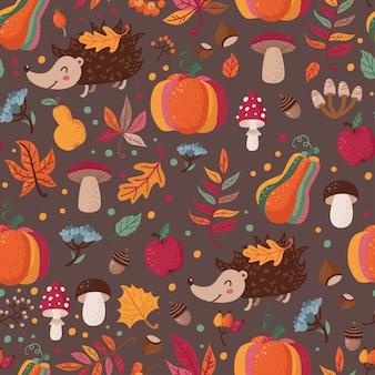 Herbst nahtlose muster