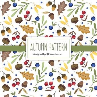 Herbst natürliche elemente muster