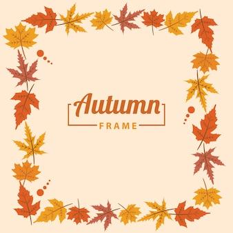 Herbst rahmen grenzen