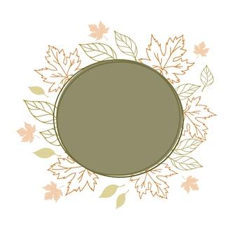 Herbst rahmen hintergrund