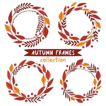 Herbst rahmen sammlung