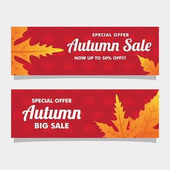 Herbst red banner hintergrund