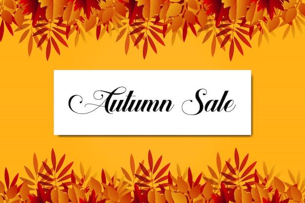 Herbst sale banner hintergrundvorlage