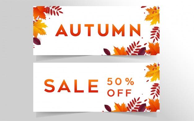 Herbst sale banner sammlung