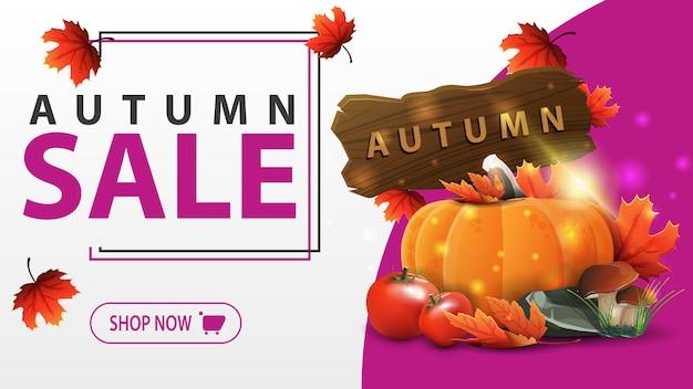 Herbst sale banner vorlage