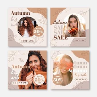 Herbst sale instagram posts sammlung mit foto
