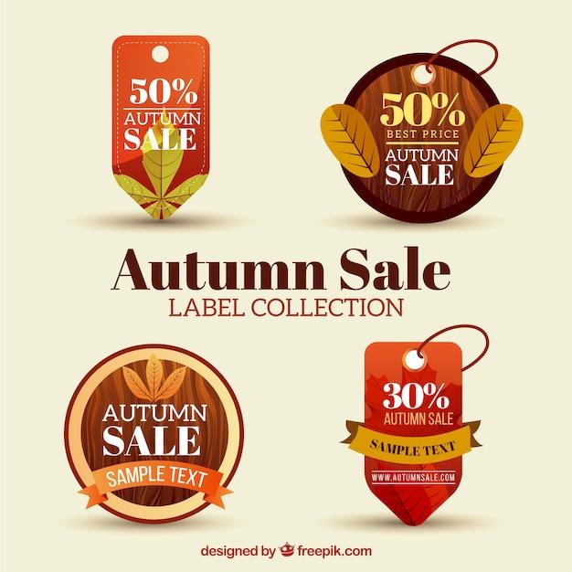 Herbst sammlung von verkauf etiketten