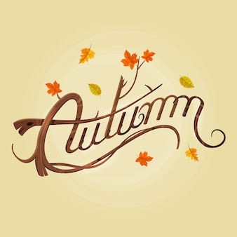 Herbst schriftzug