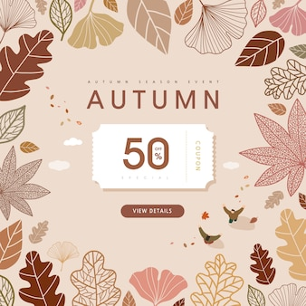 Herbst shopping event illustration. banner.