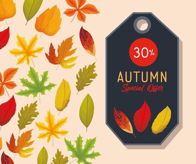 Herbst-sonderangebots-etikett