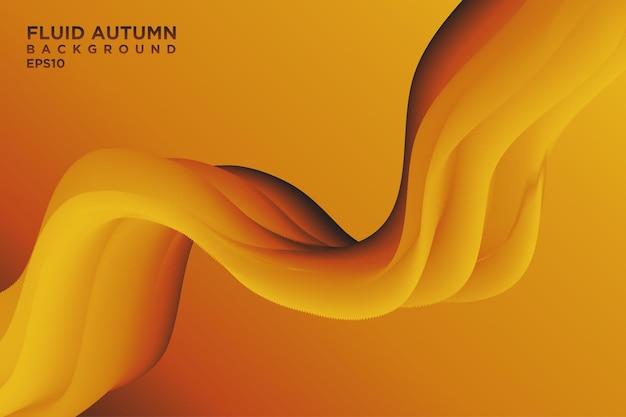 Herbst-stil abstrakter flüssiger wellenhintergrund mit 3d-strömungsverlauf für cover oder landing page