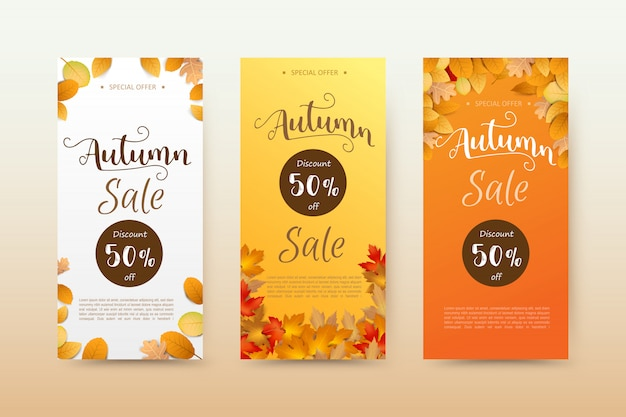Herbst tag banner