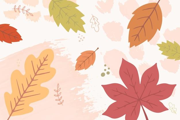Herbst tapete thema handgezeichnet