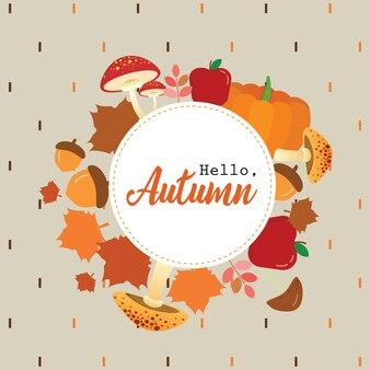 Herbst titel kranz
