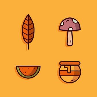 Herbst vektor festgelegt