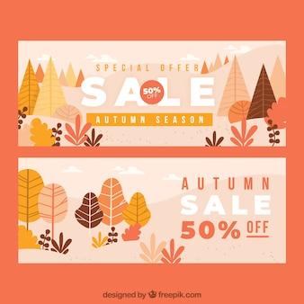 Herbst verkauf banner