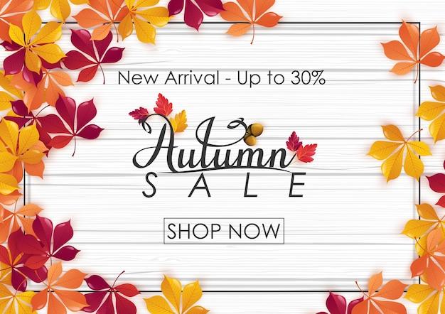 Herbst verkauf hintergrund