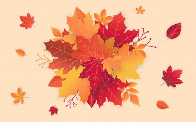 Herbst verkauf vorlage