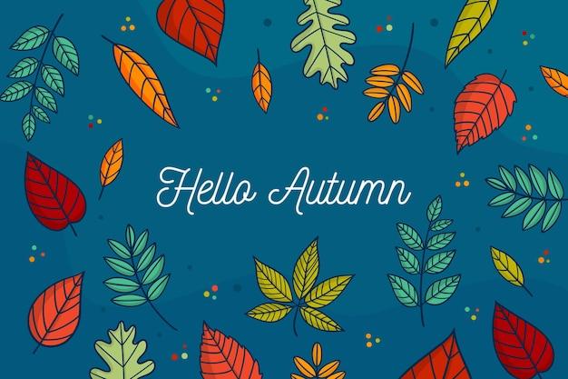 Herbst verlässt hintergrund