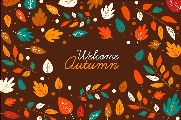 Herbst verlässt hintergrundthema
