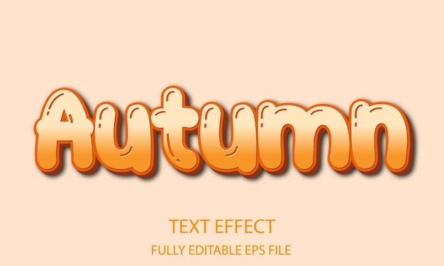 Herbst voll editierbarer texteffekt